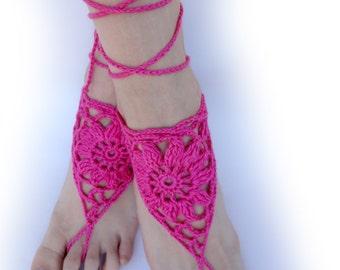 Beachwear accessory Children Crochet Barefoot Sandals Rainbow Foot Jewelry for Girls Summer gift.