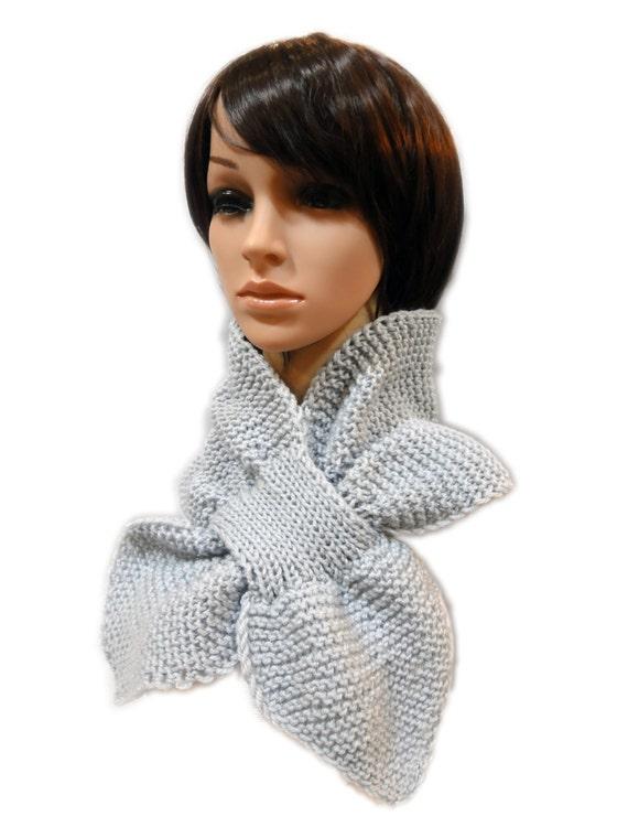 Tejer bufanda de ojo de la cerradura. Capucha había tejido a | Etsy