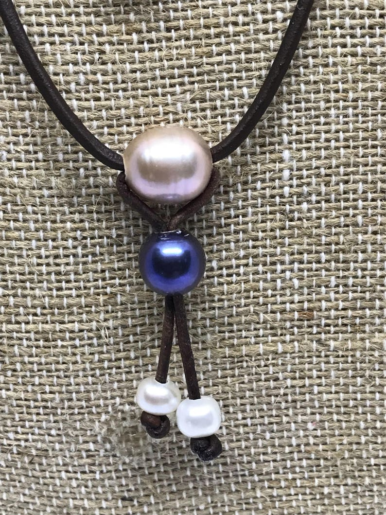 pearl jewelry Baroque Large Pearl Necklace multi color pearl necklace