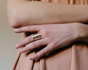 Solo Ring: Gold Filled Ring Statement Ring Gold Ring Minimalist Jewelry