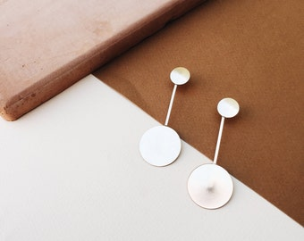 TAKE THE PLUNGE Statement Earrings: Sterling Silver or Gold-filled Statement Earrings