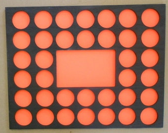 Wood Poker Chip Collector/'s Display Frame for Poker Runs Memorial Rides.
