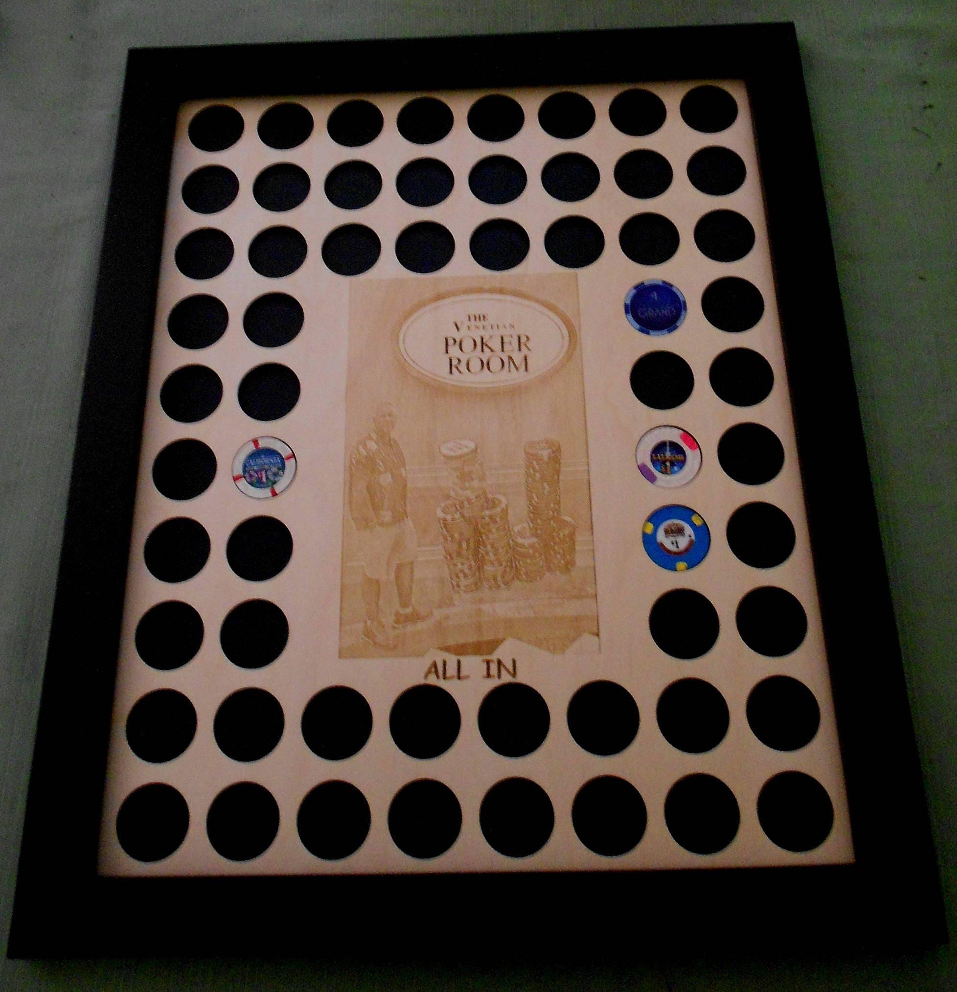 Personnalisé gravé Photo Poker Chip affichage Insert avec cadre cadre cadre cadeau du joueur de Poker Poker «collectionneurs personnalisé 11ac50