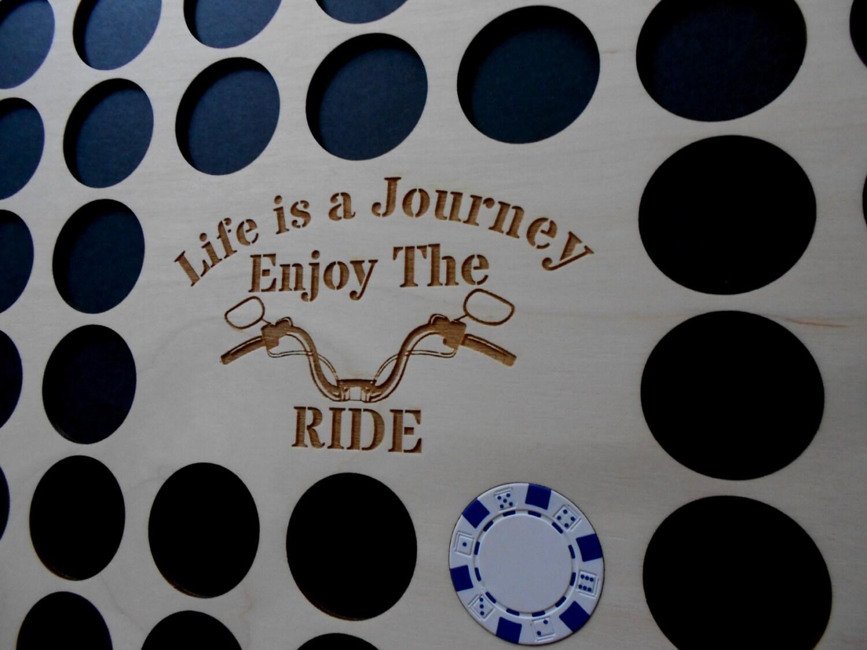 Poker Chip Rahmen Display Einsatz Leben ist eine Reise-Lenker | Etsy