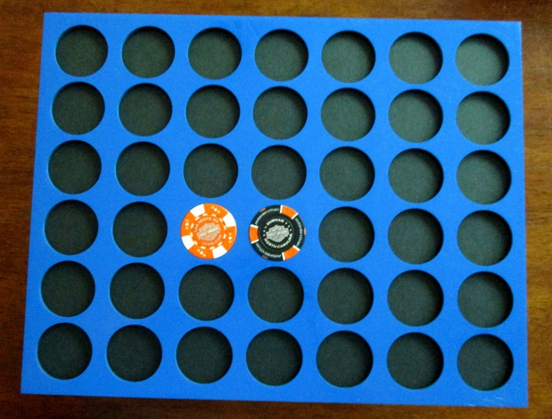Poker chip display frame insert