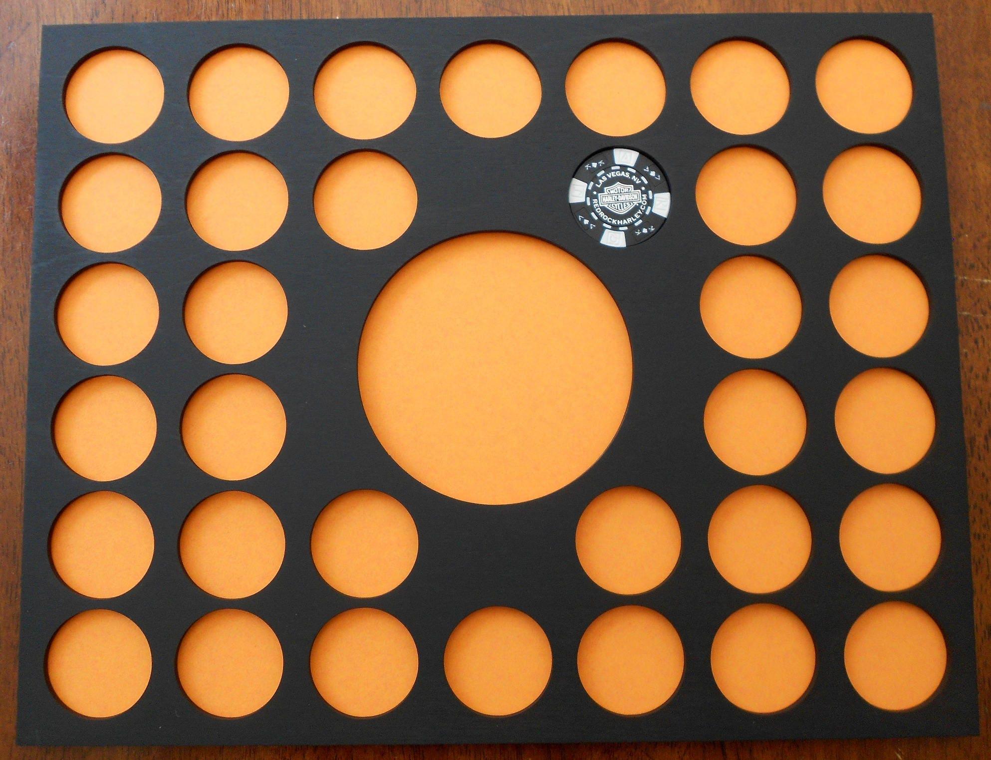 Custom Poker Chip Display Insert for Frames 11 X 14 wood | Etsy