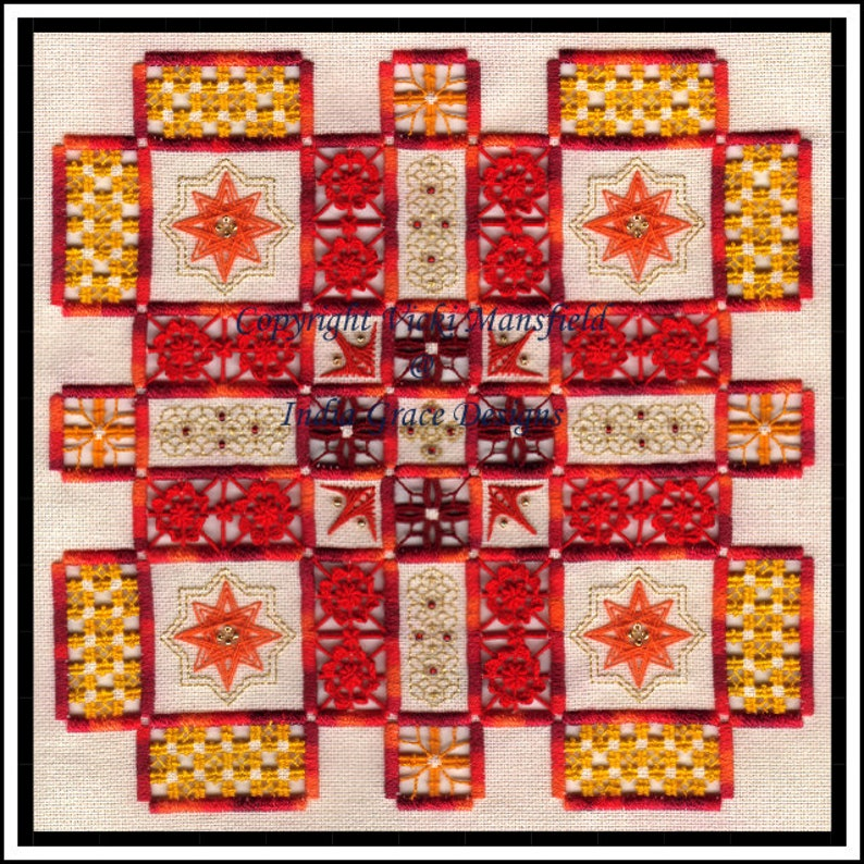 Matilda Hardanger and Speciality Stitch embroidery pattern