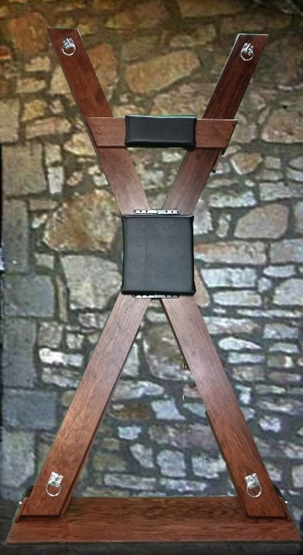 St Andrews Cross Bondage Table Spanking bench image 0