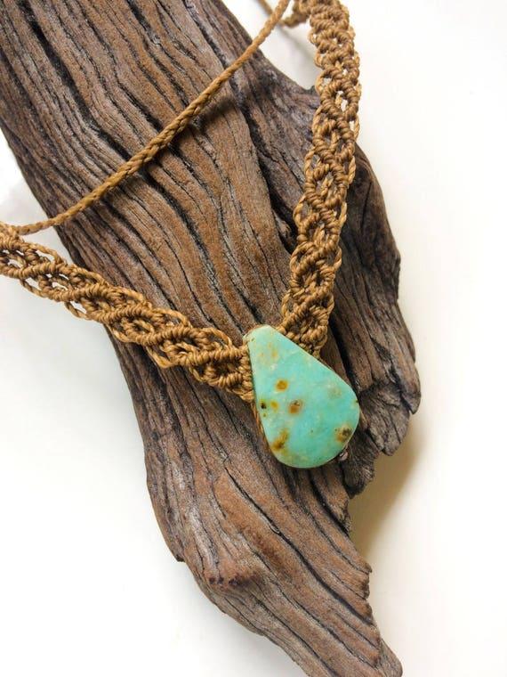 Peruvian Opal Pendant Necklace by Stones Desire