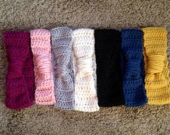 Crochet Cinched Turban Ear Warmer