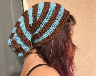 Scott Pilgrim inspired slouchy hat/ready to ship