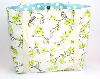 Summer Handbag, Summer Tote Bag, Handbags for Women, Floral Handbag, Summer Purse, Purse with Handle, Knitting Bag, Gifts for Women Friends