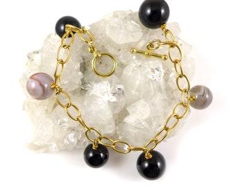 Gold Vermeil chain gemstone bracelet