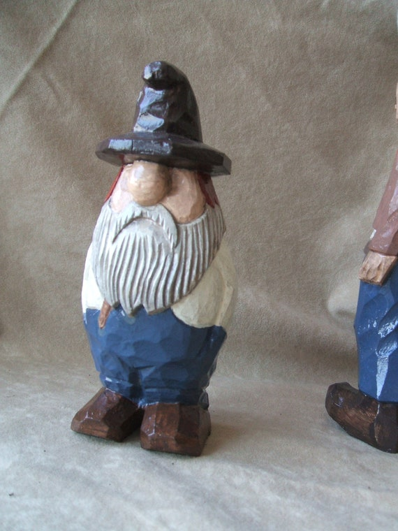Southwestern Wooden Carved Grizzly Old Jeans Clad Prospector Etsy