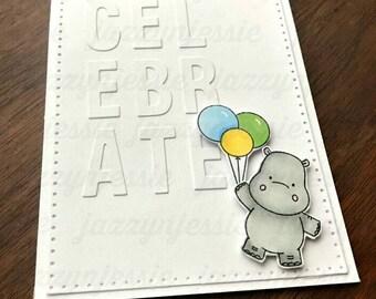 Celebrate Hippo Greeting Card!