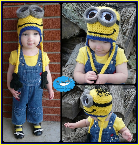 3 D Minion Ear Flap Hat Pattern Etsy