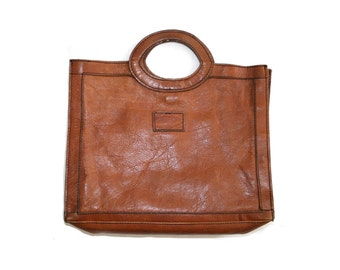 Vintage leather briefcase style bag