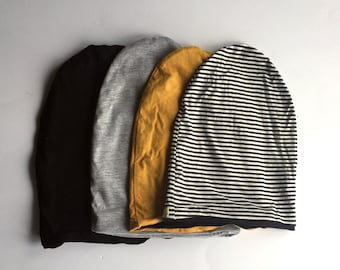 Slouchy Beanie- Reversible- Neck Warmer