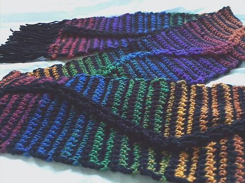 Easy Crochet Scarf Pattern Pdf Jacobs Single Scarf Etsy