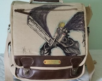 Final Fantasy 7 Cloud Strife Messenger Bag by Sean Iredale