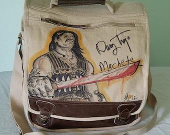Danny Trejo Autographed Machete Messenger Bag by Sean Iredale