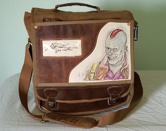 Michael Rooker Autographed Yondu Messenger Bag by Sean Iredale