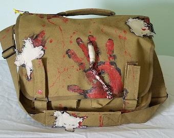 Walking Dead Zombie ShredZ with Zombie Partz Bag,  Canvas Shoulder Messenger bag