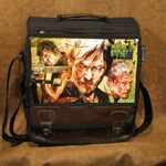 Norman Reedus Autographed these Daryl Dixon Walking Dead Original Artwork by Corbin Kerns Messenger Backpack