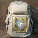 The Scouting Legion Attack On Titan Limited Edition Print on canvas Backpack 61515n4