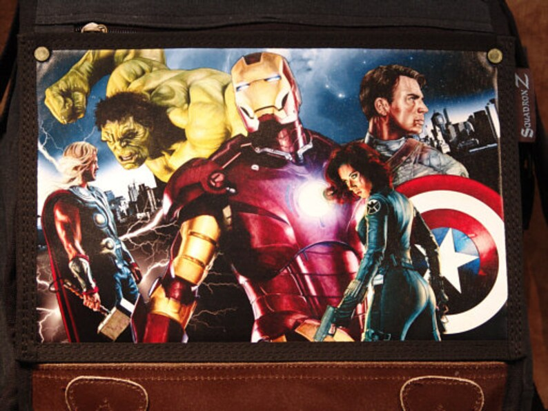 Avengers Limited Edition Print on Messenger Backpack image 0