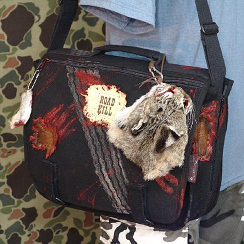 Road Kill with Road Kill Pet Bag  Canvas Shoulder Messenger image 0