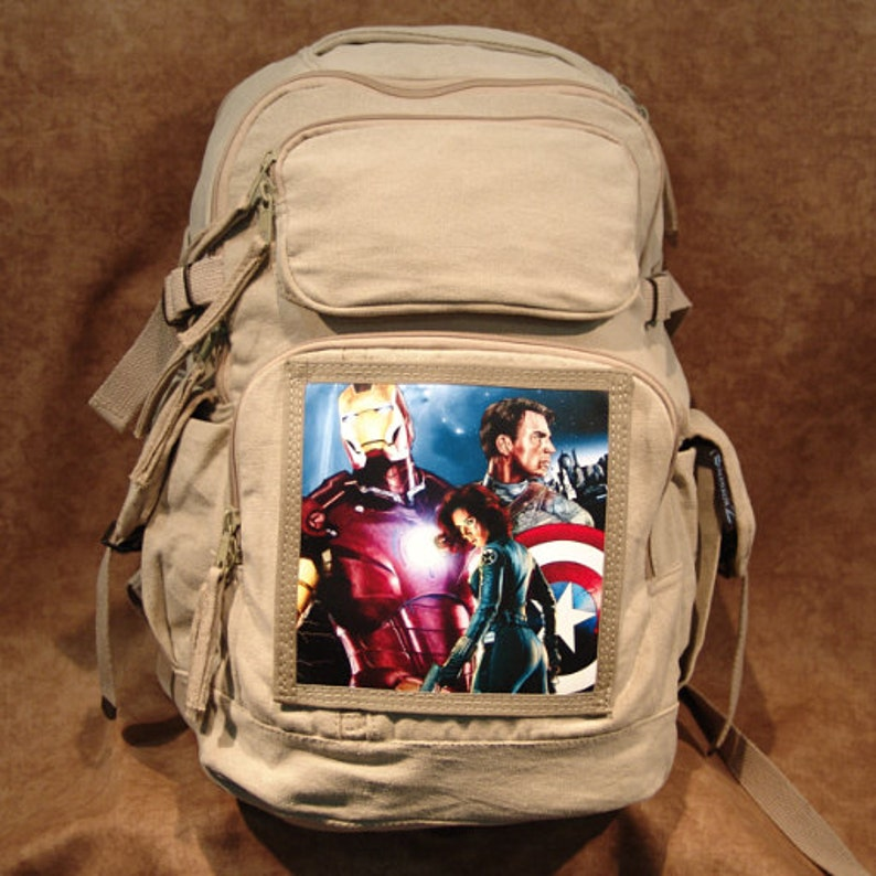 Avengers Limited Edition Print on Canvas Backpack image 0
