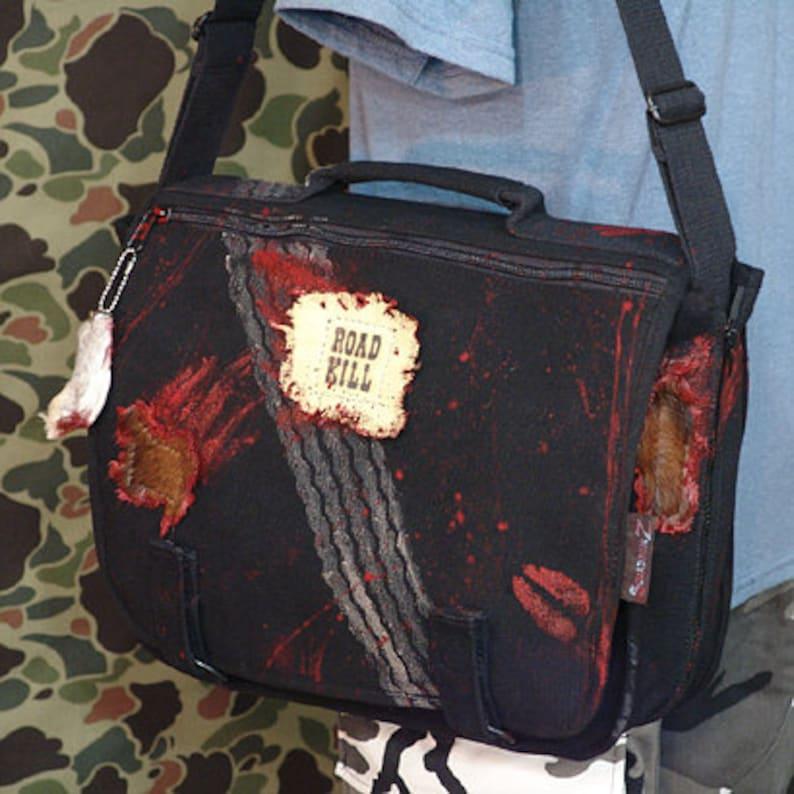 ROAD KILL Canvas Bag  Canvas Shoulder Messenger bag 10114-7 image 0