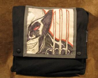 Wolverine Comic Book Original Artwork Shoulder Satchel Bag 10515-11
