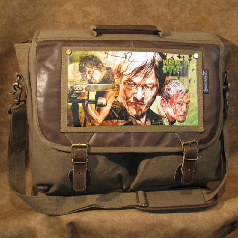 Daryl Dixon Walking Dead Original Artwork by Corbin Kerns image 0