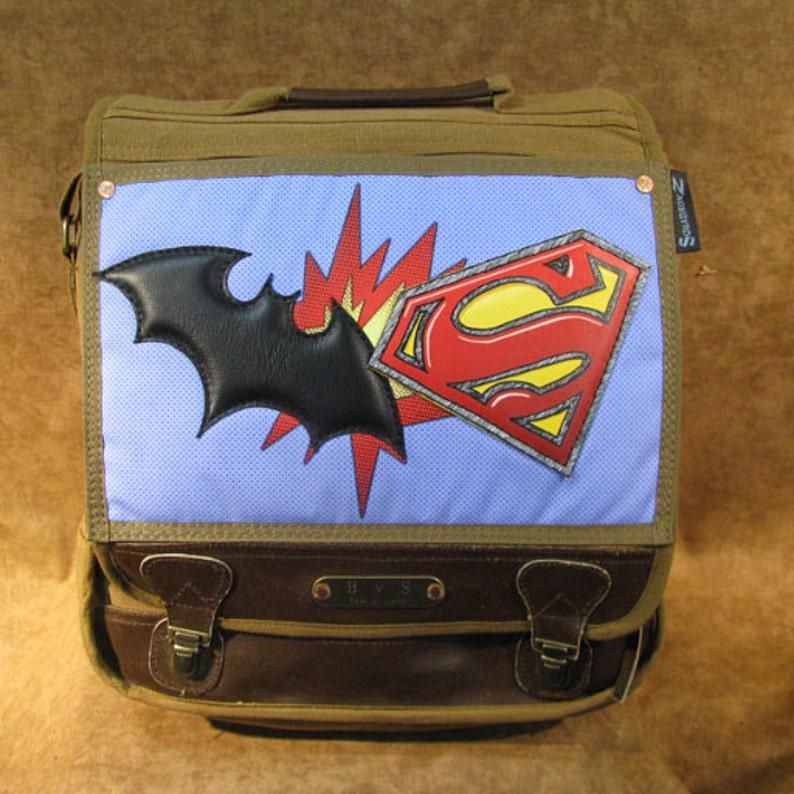 Batman v Superman Original Leather and Canvas Artwork on image 0