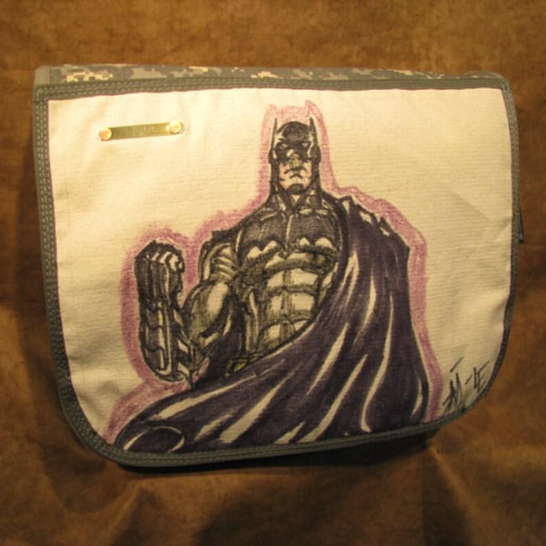 The Dark Kinght DC Comics Original Artwork Shoulder Bag image 0