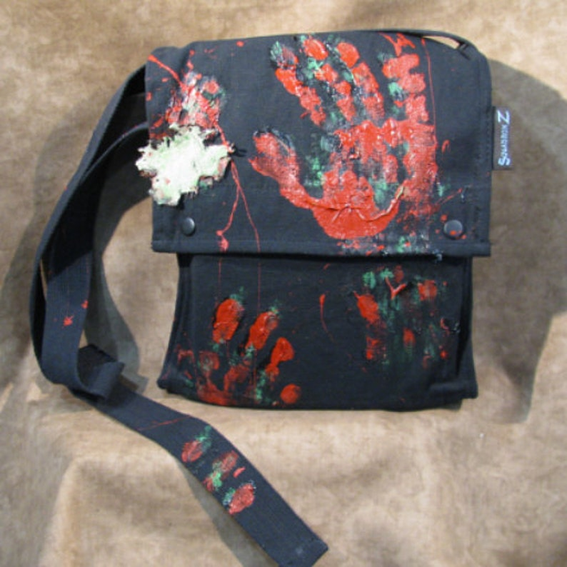 Walking Dead Zombie Shoulder Satchel Bag in Black image 0