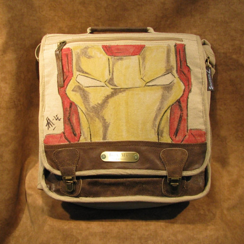 Ironman of Marvel Comics Original Artwork Messenger Back Pack image 0