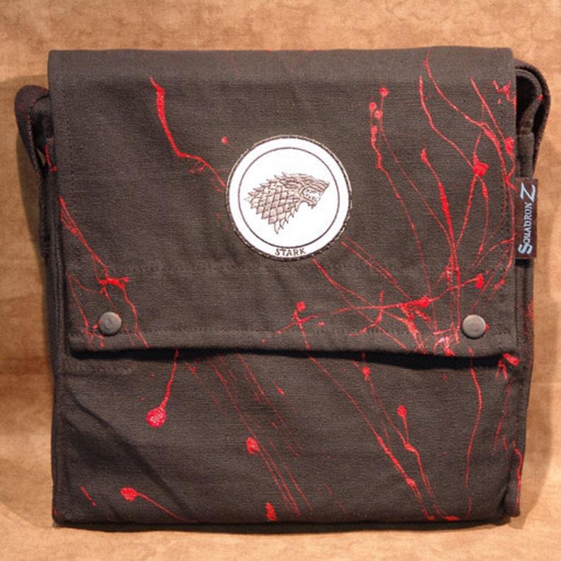 Game of Thrones Stark Patch Shoulder Satchel Bag 3915-2 image 0