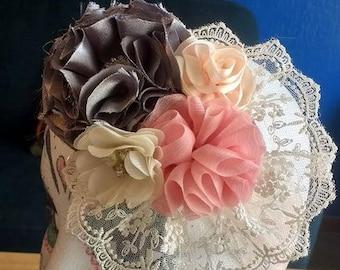 OOAK Vintage Handmade Floral Headband