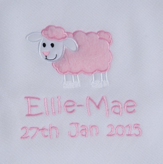 Personalised Embroidered Knitted Baby Blanket/Shawl
