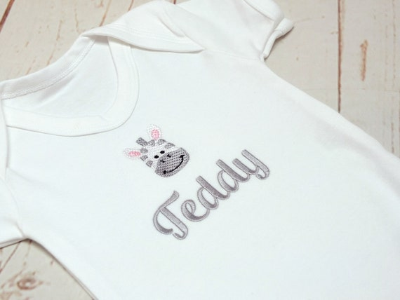Personalised Baby Bodysuit, Embroidered Baby Vest, Personalised Childrens Clothing, New Baby Gift, Baby Shower Gift, Personalised Onesie