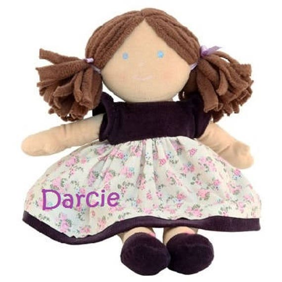 Rag doll, Personalised, Embroidered doll, New baby gift, Baby girl rag doll, Girls doll, Personalised Doll, Rag Doll Gift, Personalised gift