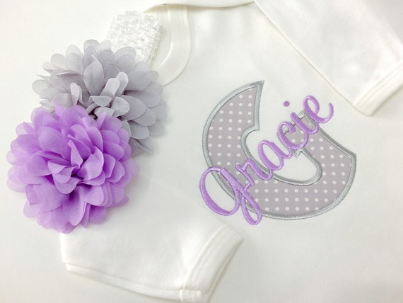Personalised Baby Girl Rompersuit, Embroidered Baby Clothes, New Baby Gift, Coming Home Baby Outfit