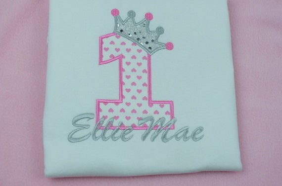 Personalised Baby Toddler Childrens Birthday T Shirts Age and Name Embroidered