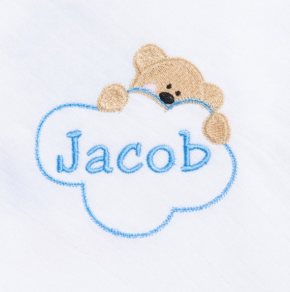 Personalised Muslin, Baby Boy Muslin, Embroidered Muslin, Muslin Square, Muslin Cloth, New Baby Gift, Baby Shower Gift, Newborn Gift