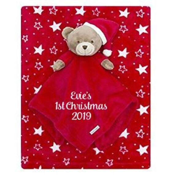Personalised Baby Christmas Comforter and Blanket, 1st Christmas Baby Gift, Personalised Gift Box, Babies Christmas Gift, Embroidered Gift