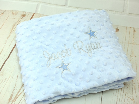 Personalised Baby Blanket, Baby Boy Gift, Embroidered Blanket, New Baby, Baby Shower, Christening Gift, Luxury Blanket