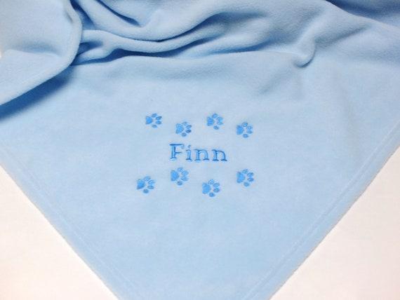 Personalised Pet Blanket, Puppy, Kitten, Dog, Cat, Fleece Blanket, New Pet Gift, Embroidered Pet Blanket